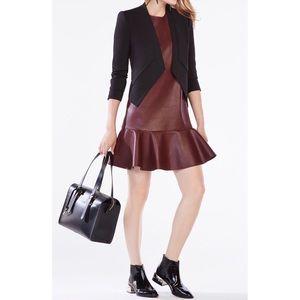 BCBGMaxAzria Sheridan Faux-Leather Dress Oxblood
